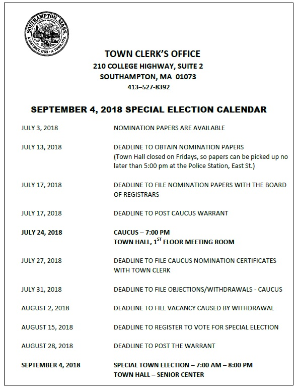 Special Town Election 2018
