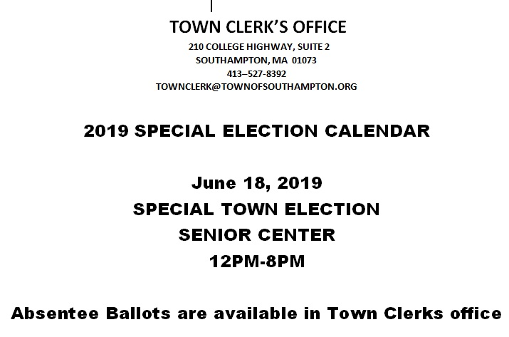 Special Town Election 2019